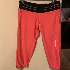 Hot pink/black Capri work out pants